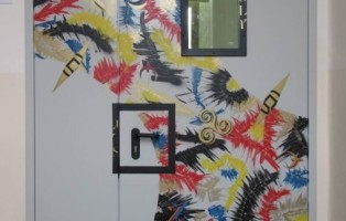 porte dipinte liceo padova