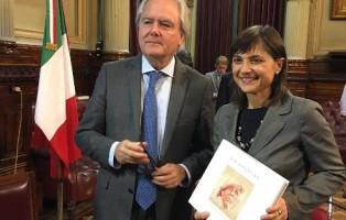 Serracchiani in argentina con pres.senato Pinedo