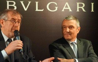 nella foto: sindaco e patron di Bulgari
