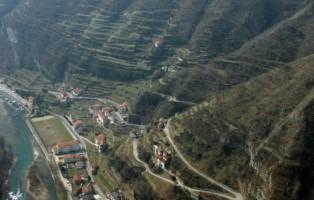 i terrazzamenti in Canal di Brenta