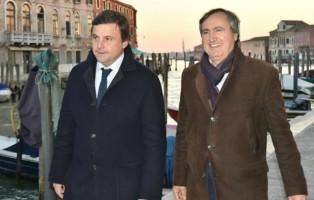 ministro Calenda e sindaco Venezia