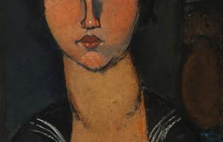 Modigliani Amedeo, La femme en blouse marine (1916)