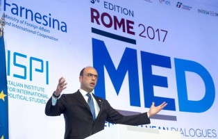 Italian Minister for Foreign Affairs, Angelino Alfano, during Forum MED 2017 in Rome, 30 November 2017. ANSA/CLAUDIO PERI