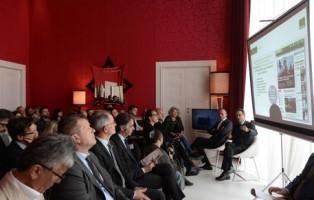 ANSA presenta i nuovi portali web dedicati alle storie di successo nell'economia del Veneto, oggi 5 aprile 2018, presso l'hotel Sina Centurion Palace a Venezia. Nella foto il direttore dell'ANSA Luigi Contu. ANSA/ANDREA MEROLA