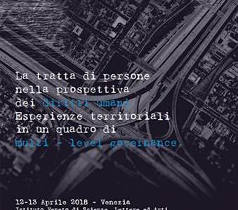 Convegno Venezia tratta esseri umani