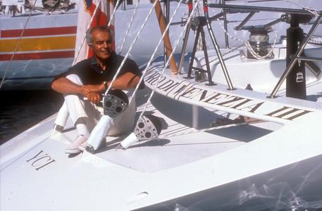 1992 Raul Gardini sul Moro di Venezia III. ANSA ARCHIVIO